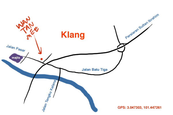 map to Klang old school wantan mee