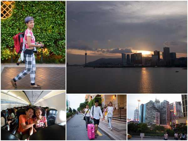 we arrived at Macau on the evening, beautiful cityscape