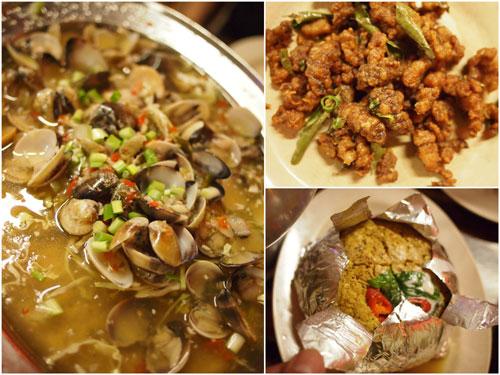 thai style lala, mantis prawn, otak otak