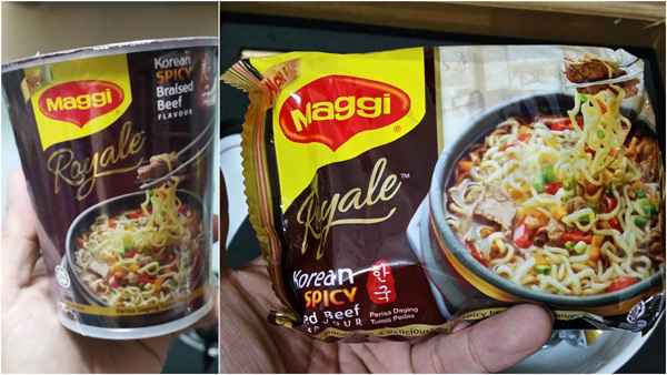 Maggi Royale Korean Spicy Braised Beef flavor
