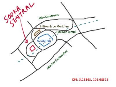map to Sooka Sentral