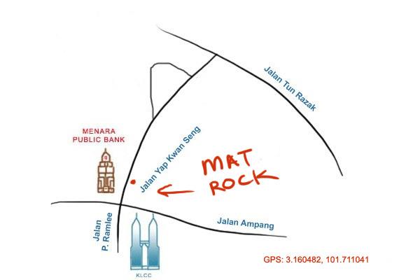 map to nasi ayam kunyit Mat Rock