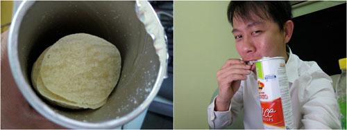 KY with mister potato rice crisps