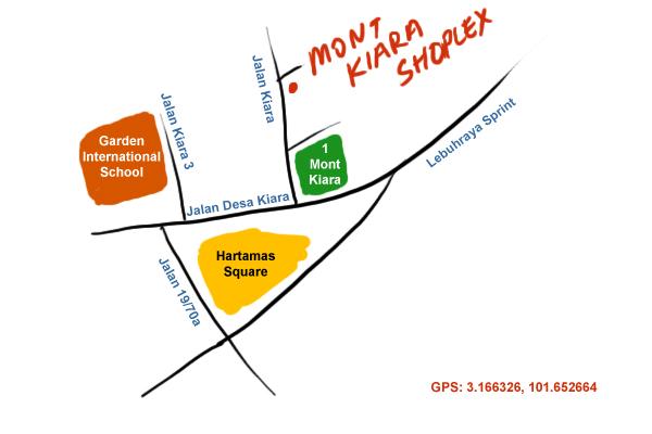 direction to Mont Kiara Shoplex