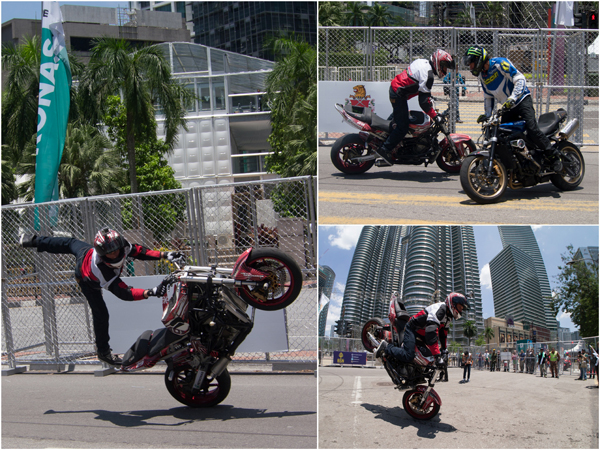 Stunt show by Aaron Twite and Nick Brocher