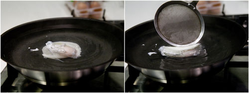 flipping poached egg