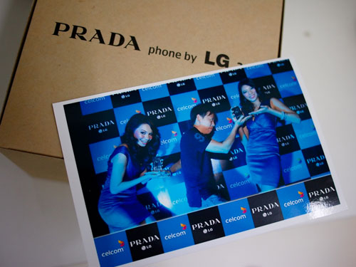 this silly pose bagged me a Prada LG 3.0 phone