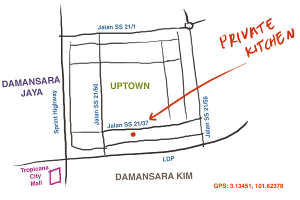 map to Private Kitchen restaurant at PJ Uptown