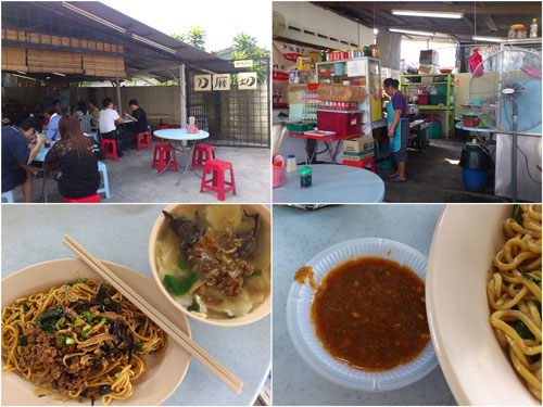 found this pan mee place by the side of a house in Puchong