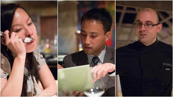 Ee Laine, Azimy from The Saujana, and Chef Filippo Giunta
