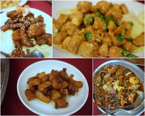 butter chicken, marmaid pork ribs, extra pork lard, and tapioka hokkien mee