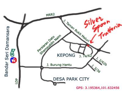 silver spoon trattoria map