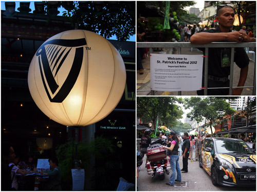 St Patrick's Day at Changkat Bukit Bintang, getting started
