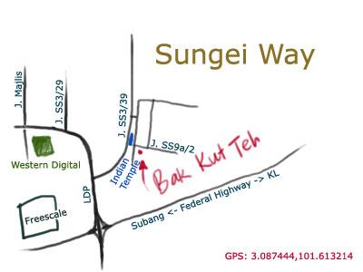 Sungei Way Xhin Fhong Bak Kut Teh map