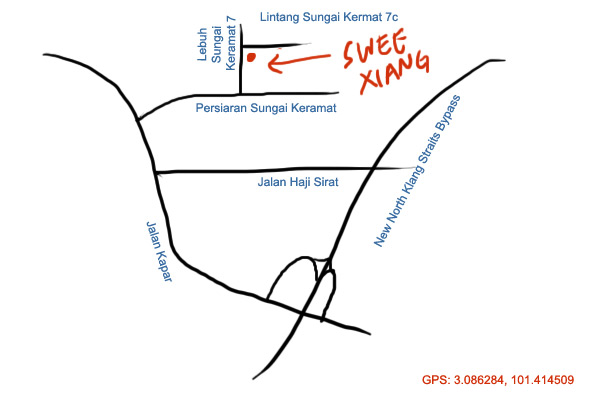 map to Swee Xiang hong bak & bak kut teh