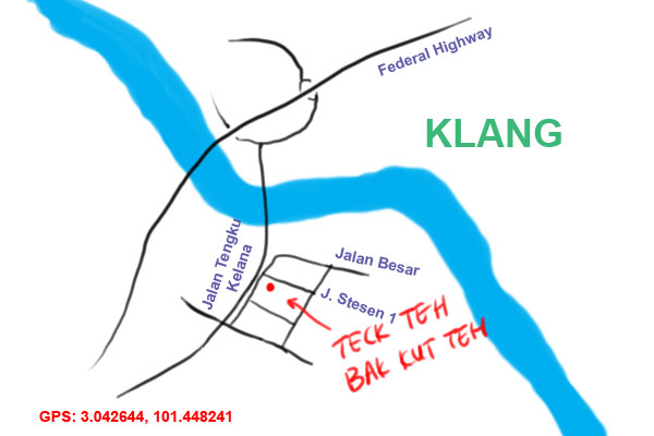 map to Teck Teh bak kut teh