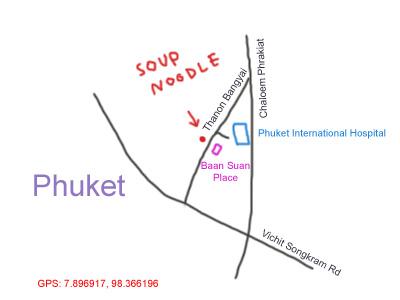 map to Phuket International Hospital