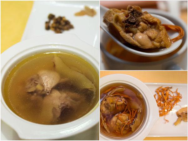"""double boiled chicken with """"shi hu"""" or """"chong cao hua"""" soup"""