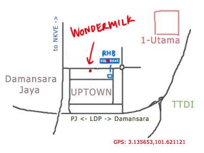 map to Wondermilk at PJ Uptown