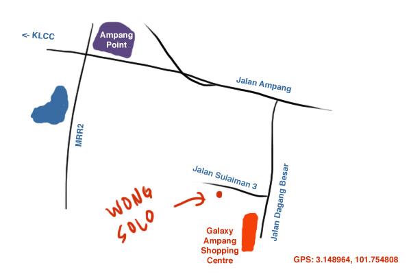 map to Wong Solo Ampang
