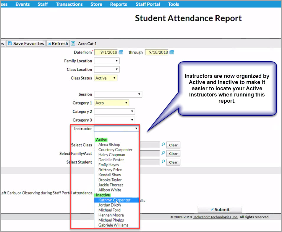 There are New Attendance Options in the Staff Portal!