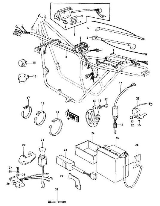 kawasaki z900 a4 wiring diagram