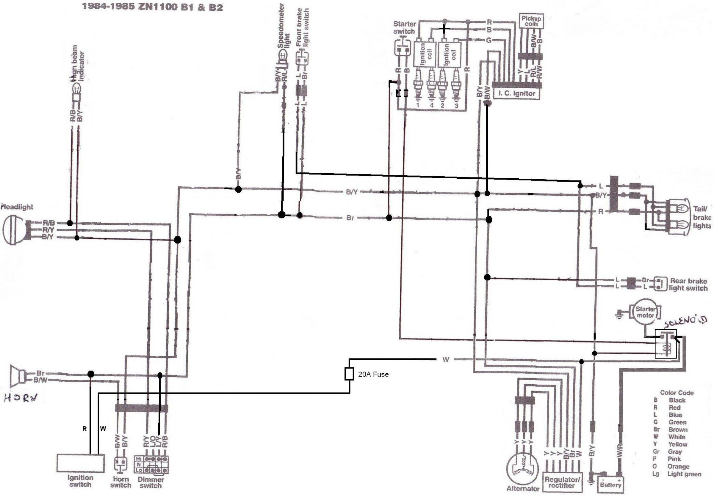 kawasaki 1982 ltd 1000 wiring diagram