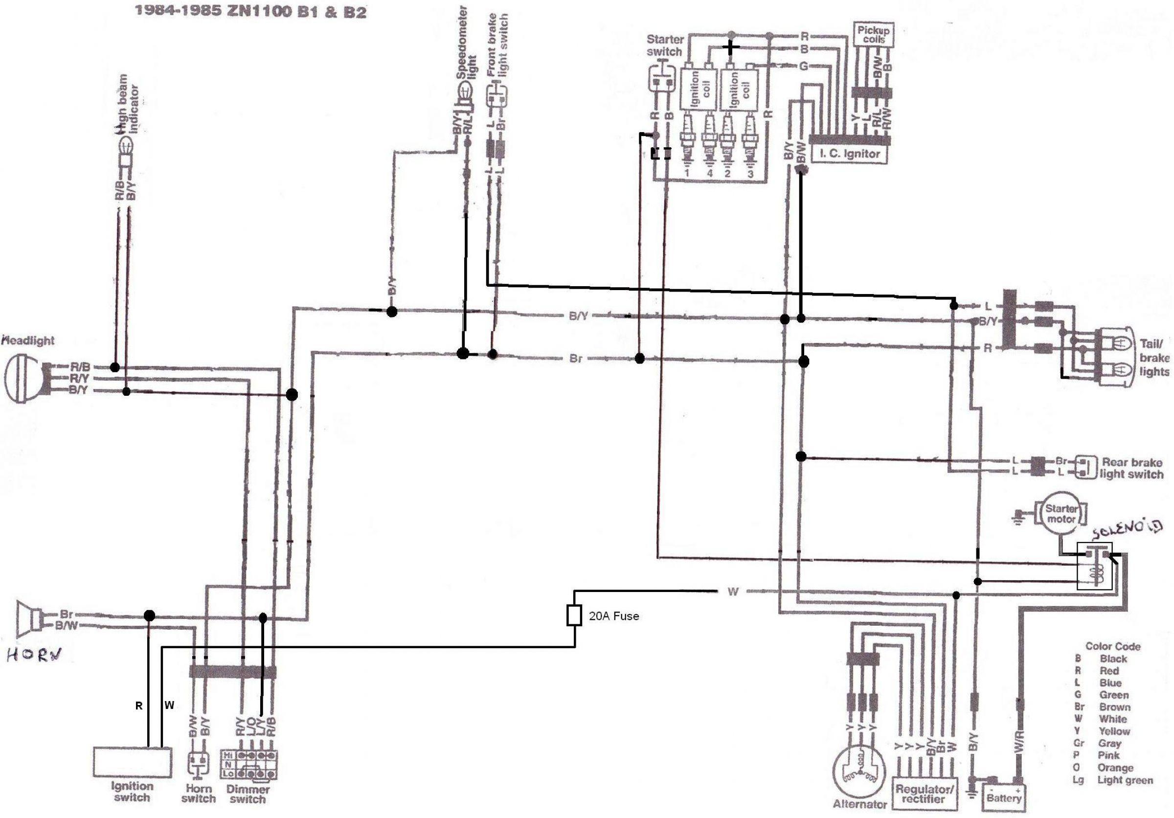 1982 wiring diagram for kawasaki k z ltd 750