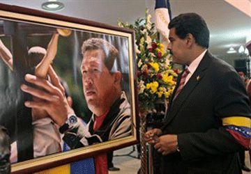 Le président intérimaire Nicolas Maduro aux funérailles d'Hugo Chavez. (Photo: AP)
