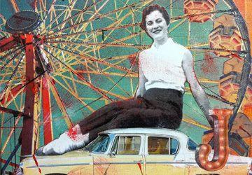Un collage de Josée Duranleau intitulé À la foire!