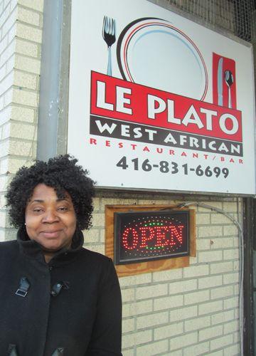 Danielle Gueu, proprio et chef du resto-bar Le Plato.
