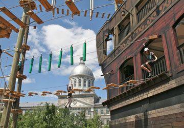 La nouvelle activité Voiles en Voiles dans le Vieux-Port de Montréal.