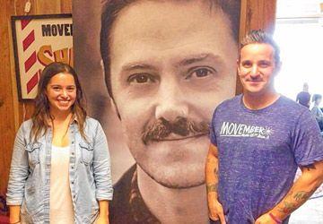 Andrée Paulin et Jesse Hayman à la fondation Movember de Toronto.
