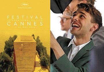 À 27 ans, Xavier Dolan est déjà un vétéran du Festival de Cannes. À g.: l'affiche de l'édition 2016.