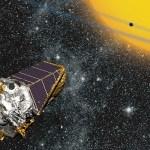Le télescope Kepler en orbite autour du Soleil. (Illustration: NASA)