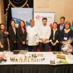 Des organisateurs du Rendez-vous Gourmet Québec, dont Nicole Lemieux (au centre), chef du Bureau du Québec à Toronto, et les chefs Jean-Luc Boulay et Arnaud Marchand. (Photo: Sébastien Auger)