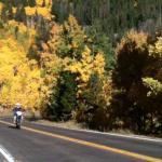 Moto dans la région de Steamboat Springs