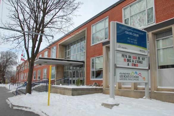 L'école actuelle au 98 Essex, dans le quartier Bloor et Christie.