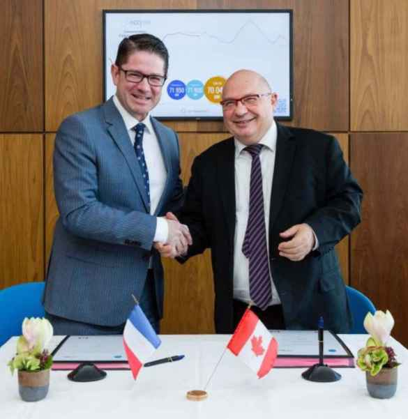 Coopération stratégique entre Hydro Québec et le Réseau de l'intelligence électrique en France.