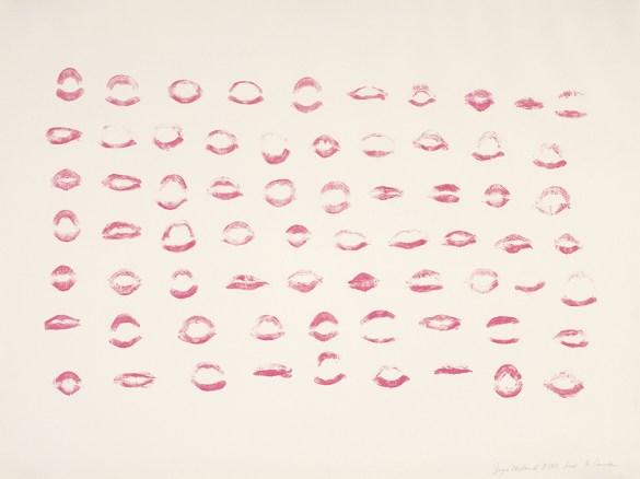 Joyce Wieland, Ô Canada, 1970, lithographie en rouge sur papier vélin, 57.4 x 76.4 cm. Acheté en 1971. Musée des beaux-arts du Canada, Ottawa. (Photo: MBAC.)
