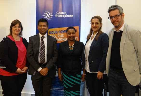 Le second panel composé de Valérie Sniadoch, Rajiv Bissessur, Assiatou Diallo, Anait Aleksanian et Francis Garon