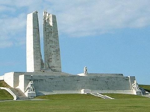 Le monument canadien à Vimy en France.