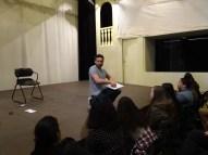 Le magicien Éric Leclerc pendant l'une de ses classes de maître.