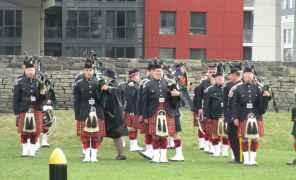 Des militaires canadiens au Fort York.