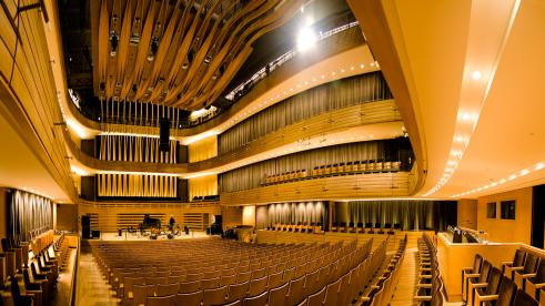 Le Koerner Hall du Conservatoire royal de musique, rue Bloor à Toronto.