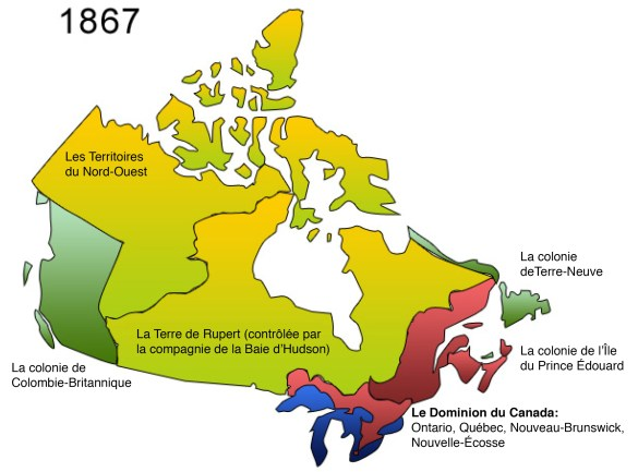 «LAmérique du Nord britannique» en 1867. (Illustration: Archives Canada)