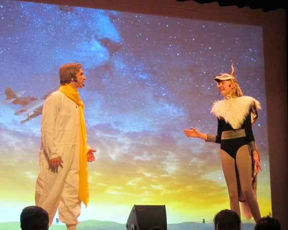 Jonathan Séguin (le Petit Prince) et Sandra Uhlrich (le renard).