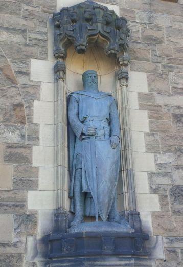 La statue Robert de Bruce.