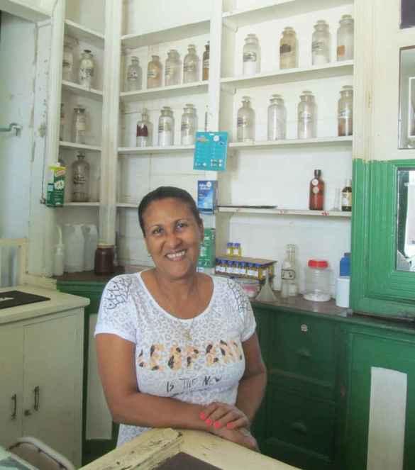 L'ancienne pharmacie traditionnelle de Jacmel.