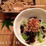 やさしいお味で和食でもいける。基本の肉味噌で、もやしの肉みそがけ